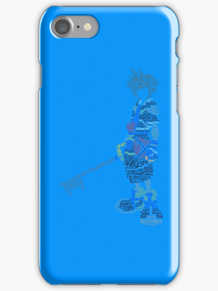 Kingdom Hearts Sora Typography (Iphone Case) by triforce15