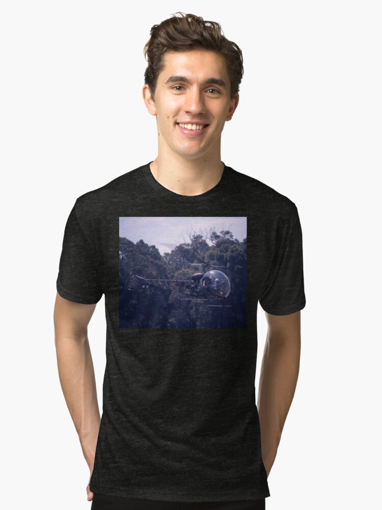 Bell 47 Helicopter @  Nowra, Australia 1997 Tri-blend T-Shirt Front