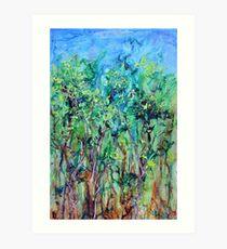 Whirlwoods acrylic on canvas Art Print