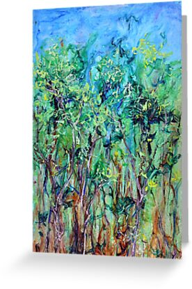 Whirlwoods acrylic on canvas by Regina Valluzzi