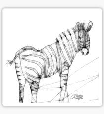 Scribbler Zebra Sticker