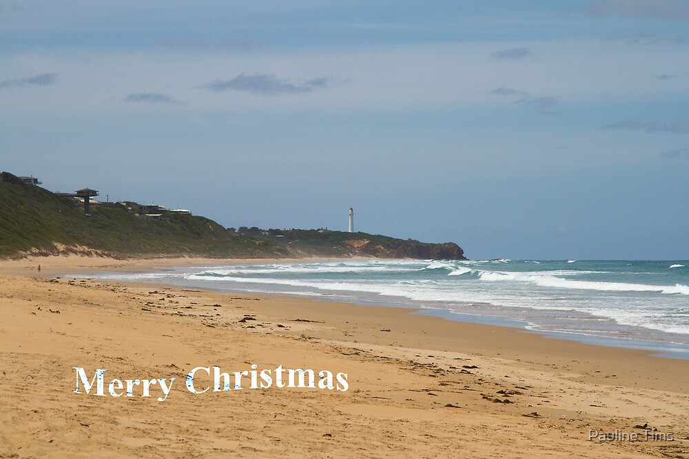 Merry Christmas. Split Point Lighthouse by Pauline Tims