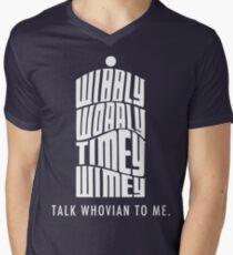 Talk Whovian To Me Men's V-Neck T-Shirt