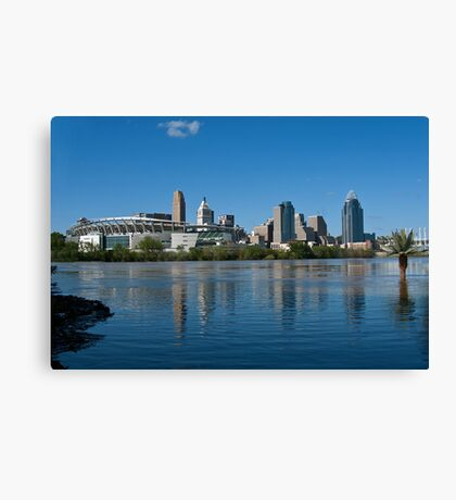 Cincinnati skyline 8 Canvas Print