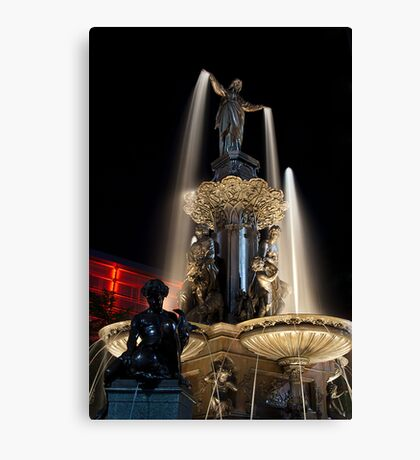 The Fountain Cincinnati Canvas Print