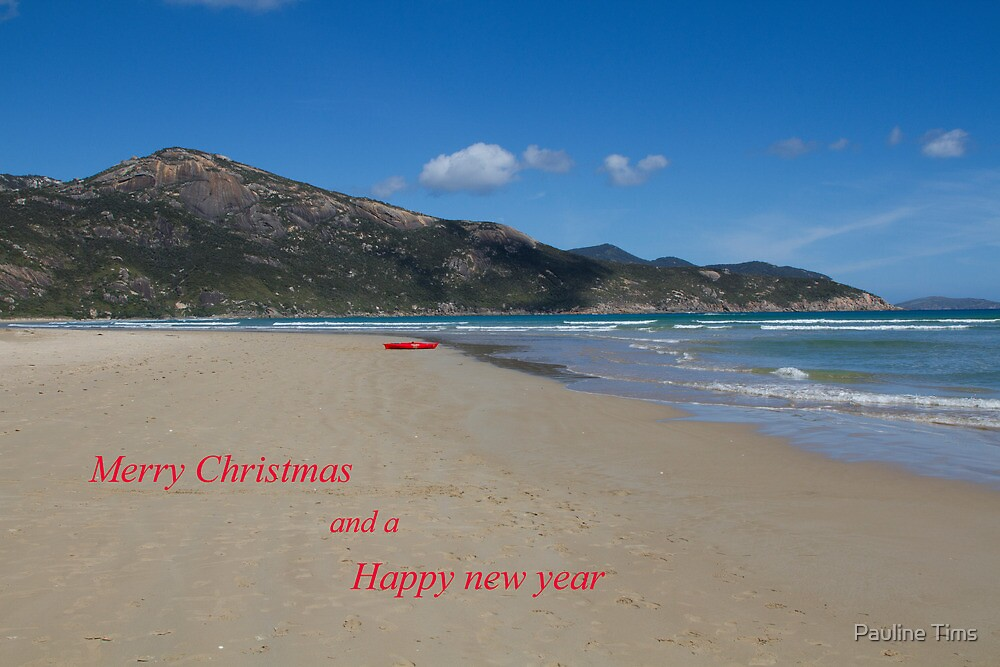 Merry Christmas and Happy new Year . Tidal River by Pauline Tims