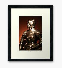 Plate armour, Prague Framed Print