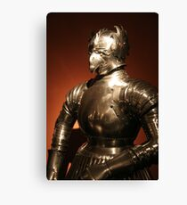 Plate armour, Prague Canvas Print