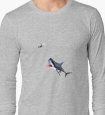 Oh Shit Shark T-Shirt Long Sleeve T-Shirt