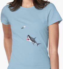 Oh Shit Shark T-Shirt Women's Fitted T-Shirt
