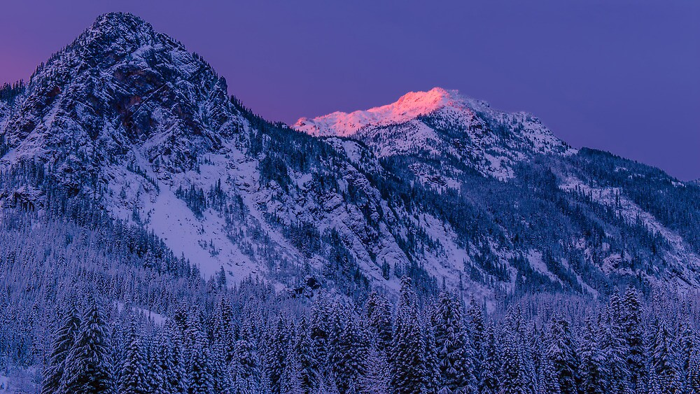 First Light at Snoqualmie Pass by Dan Mihai