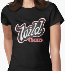 'Wild Child' Lettering T-shirt Womens Fitted T-Shirt