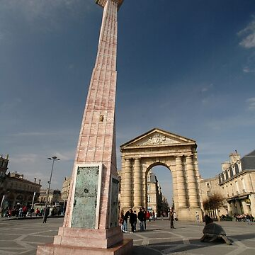 Twisted Column & Archway, Bordeaux, France, Europe 2012 by muz2142