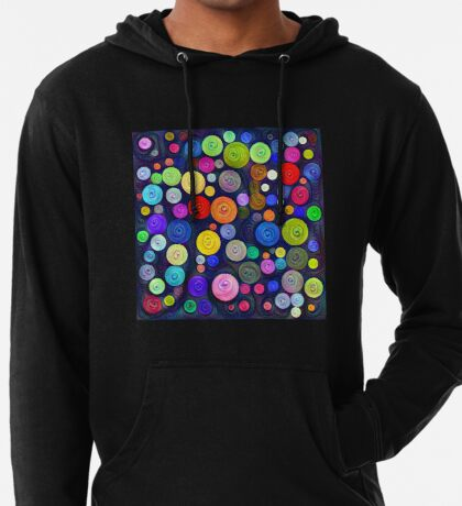 #DeepDream Color Circles Visual Areas 5x5K v1448448724 Lightweight Hoodie