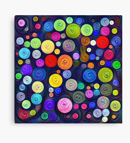 #DeepDream Color Circles Visual Areas 5x5K v1448448724 Canvas Print