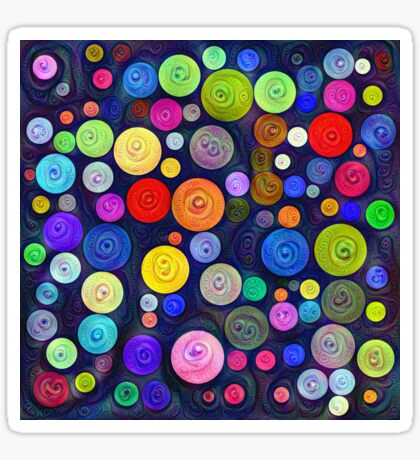 #DeepDream Color Circles Visual Areas 5x5K v1448448724 Sticker