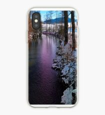 Quiet river in winter time iPhone Case