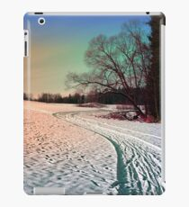 A snowy trail and some trees iPad Case/Skin