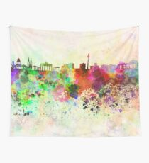 Berlin skyline in watercolor background Wall Tapestry