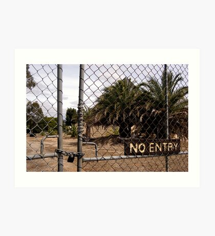 no entry Art Print