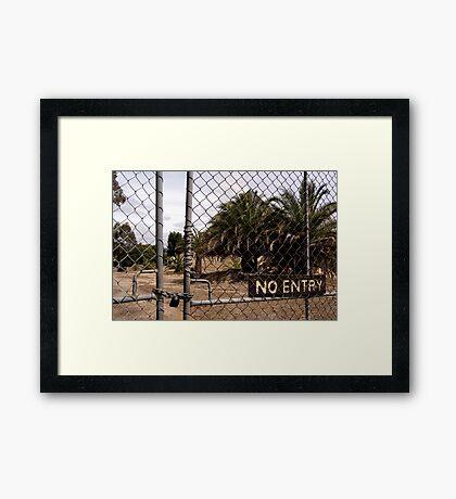 no entry Framed Print