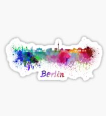 Berliner Skyline im Aquarell Sticker