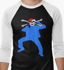 ★ټPirate Skull Style Hilarious Clothing & Stickersټ★ Men's Baseball ¾ T-Shirt