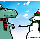 T-Rex and the Snowman by Bret Taylor