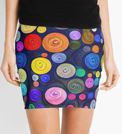 #DeepDream Color Circles Visual Areas 5x5K v1448448724 Mini Skirt