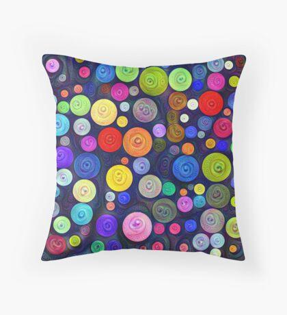 #DeepDream Color Circles Visual Areas 5x5K v1448448724 Throw Pillow