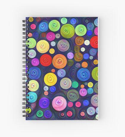 #DeepDream Color Circles Visual Areas 5x5K v1448448724 Spiral Notebook