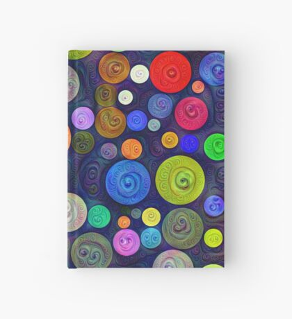 #DeepDream Color Circles Visual Areas 5x5K v1448448724 Hardcover Journal