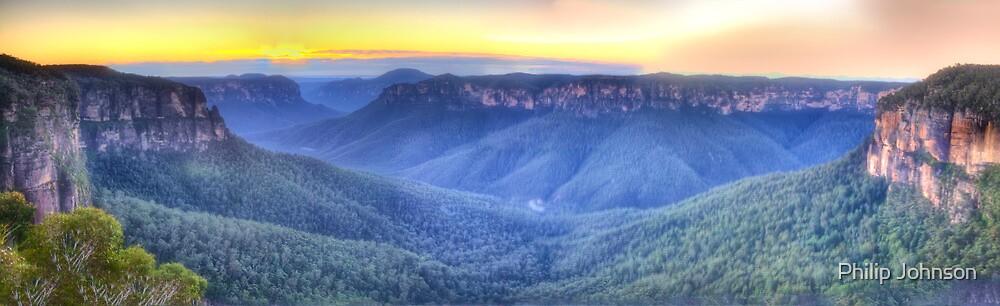 Awe - Govett's Leap, Blackheath ,NSW Australia - The HDR Experience by Philip Johnson