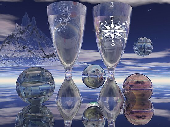 Cheers!, surrealistic / fantasy artwork with drinks by walstraasart