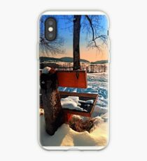 View into winter scenery iPhone Case