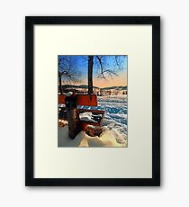 View into winter scenery Framed Print