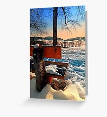 View into winter scenery Greeting Card
