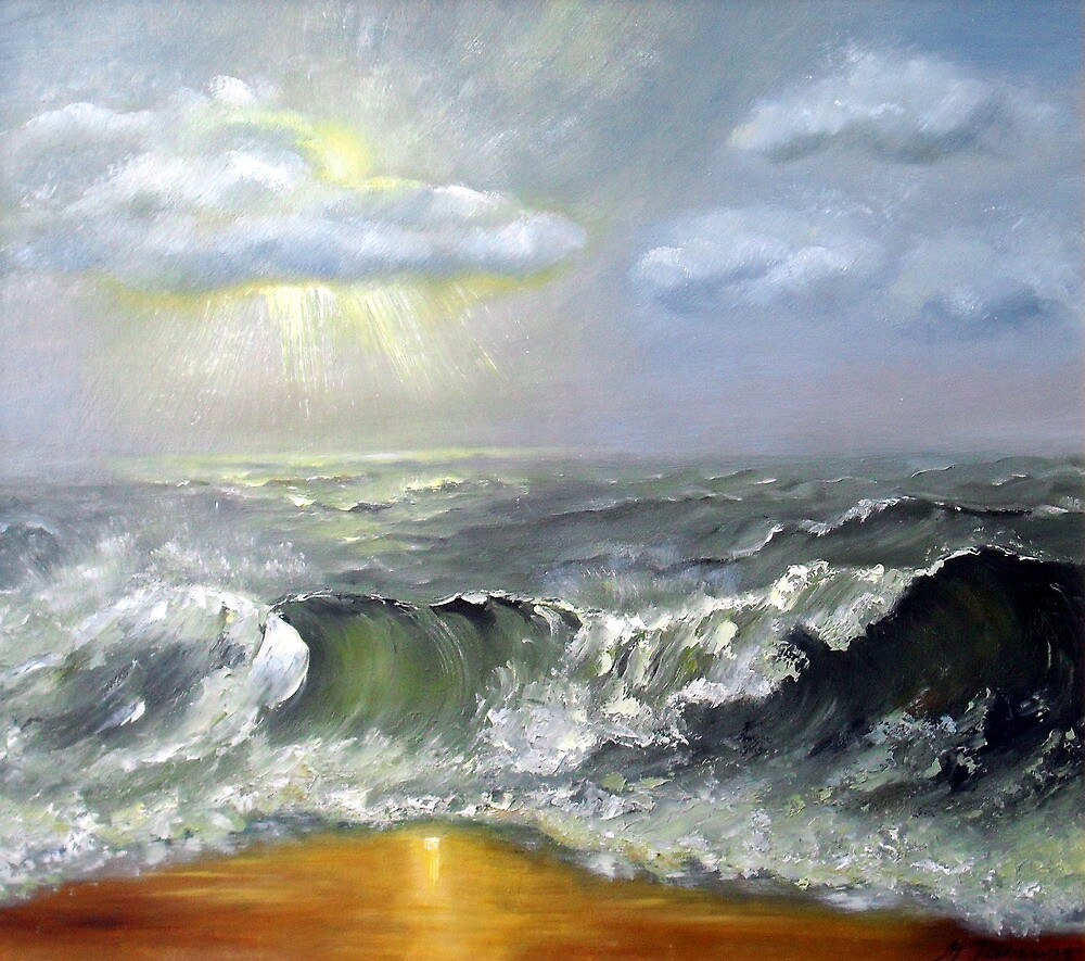 Sunlight on beach by Milija  Jansons