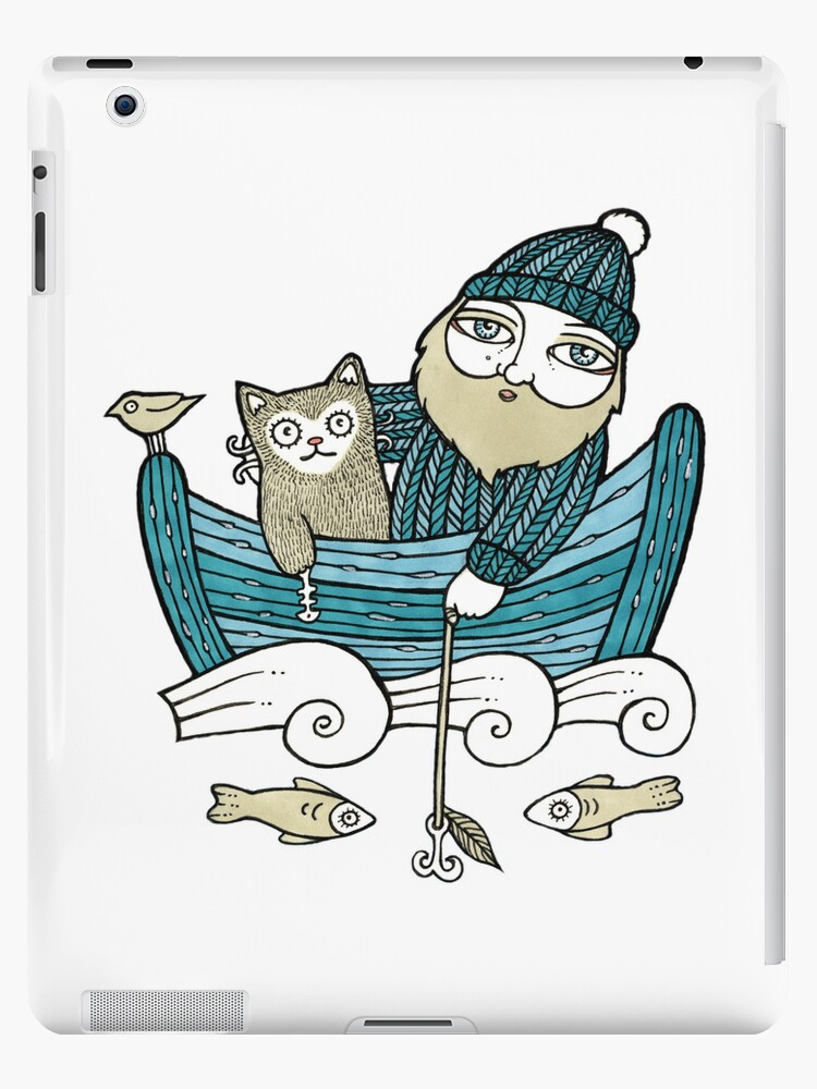 The Fisherman's Cat (Tee) by Anita Inverarity