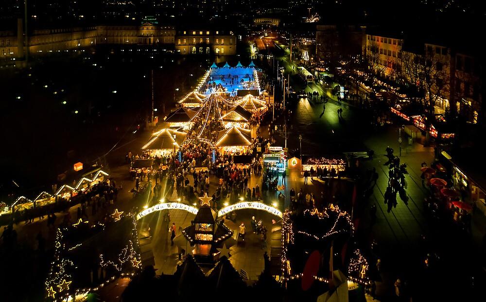 Christmas Market Stuttgart by wulfman65