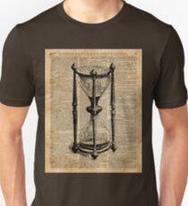 Time,Antique Hourglass,Sandglass Vintage Dictionary Art Unisex T-Shirt