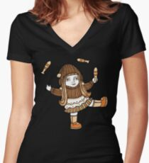 Fern's Fun at the Fringe (Tee) Women's Fitted V-Neck T-Shirt