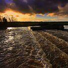 Late November at Broken Scar, River Tees, England by Ian Alex Blease