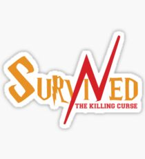 SURVIVED THE KILLING CURSE (second version) Sticker
