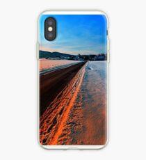 Winter road at sundown iPhone Case