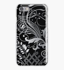 Gray Scale Swirls iPhone Case/Skin