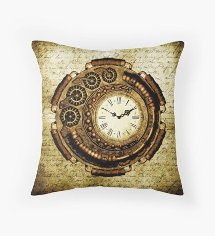 Steampunk Time Machine Throw Pillow