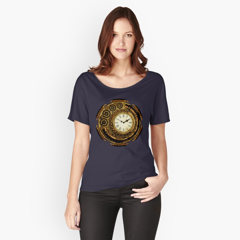 Steampunk Time Machine Women's Relaxed Fit T-Shirt Front
