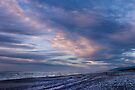 Evening sky on the beach at Greymouth by Yukondick