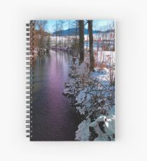 Quiet river in winter time Spiral Notebook